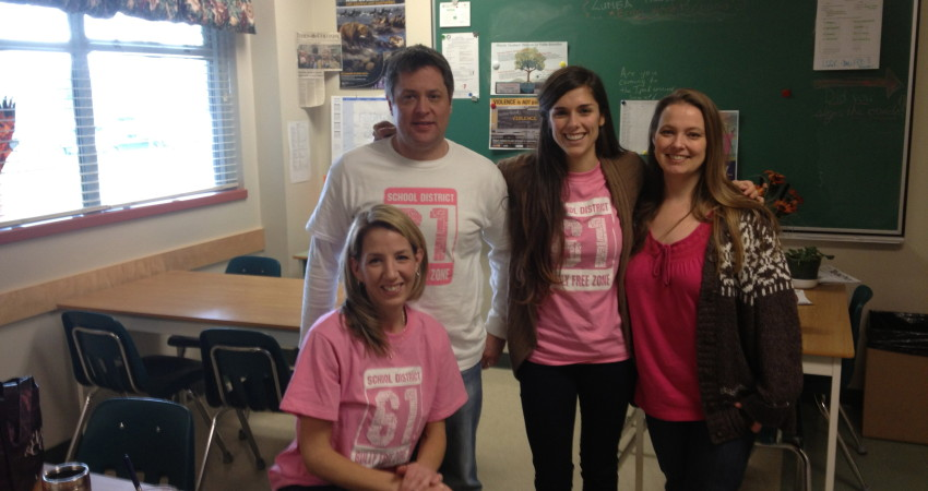 Staff Supporting Anti Bullying Day