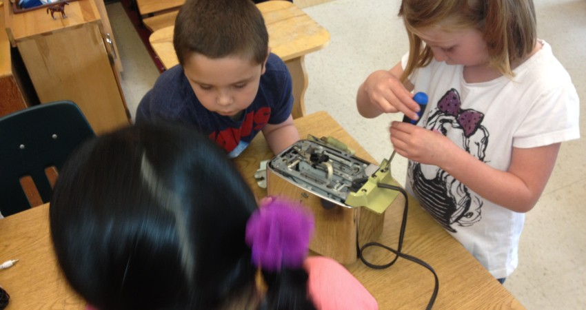 'Hands On Learning' with Grade 1 Students