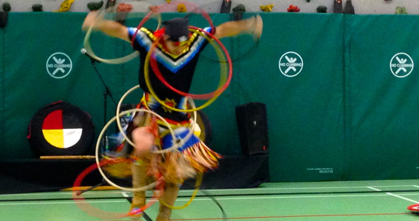 Hoop Dancer, Teddy Anderson performs at EVE