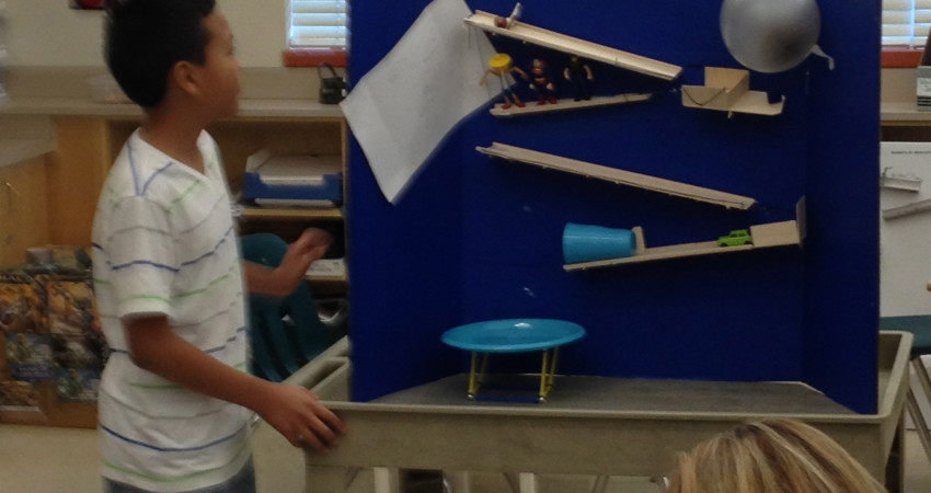 Grade 5 Student & his Simple Machine Build